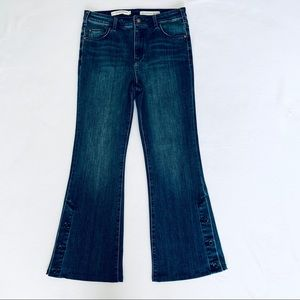 Pilcro and Letterpress High Rise Boot Cut Jeans
